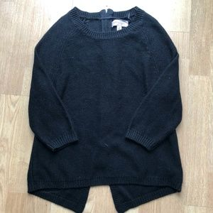 Philosophy Sweater with full zip on back